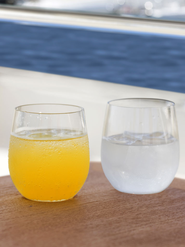 Non Slip Water Glass Clear